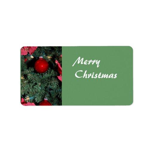 Etiqueta del regalo de las Felices Navidad Etiqueta De Dirección