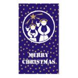 Etiqueta del regalo de las Felices Navidad Plantillas De Tarjetas Personales