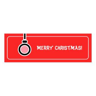 Etiqueta del regalo de las Felices Navidad Tarjeta De Visita