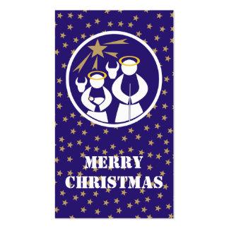 Etiqueta del regalo de las Felices Navidad Tarjetas De Visita