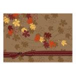 Etiqueta del regalo de las hojas de otoño plantillas de tarjeta de negocio
