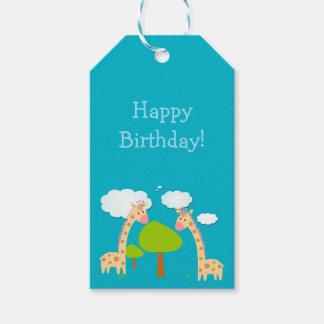 Etiqueta del regalo de las jirafas etiquetas para regalos
