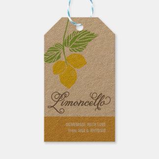 Etiqueta del regalo de Limoncello, etiqueta del Etiquetas Para Regalos