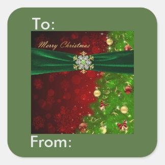 Etiqueta del regalo de los copos de nieve de las