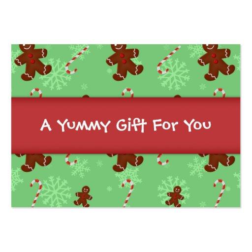 Etiqueta del regalo de los hombres de pan de jengi plantilla de tarjeta personal