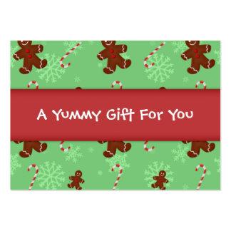 Etiqueta del regalo de los hombres de pan de tarjetas de visita grandes