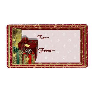 Etiqueta del regalo de los regalos del corazón etiquetas de envío