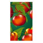 Etiqueta del regalo de los tomates y de los paprik tarjetas de visita