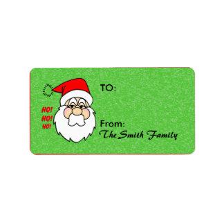 Etiqueta del regalo de Papá Noel Etiqueta De Dirección