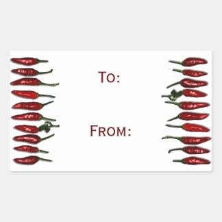 Etiqueta del regalo de Red Hot Chili Peppers