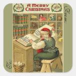 Etiqueta del regalo de Santa del Victorian