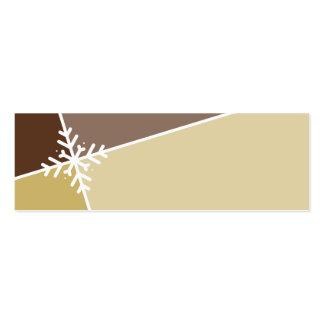 ETIQUETA DEL REGALO DE VACACIONES:: copo de nieve  Tarjeta De Visita