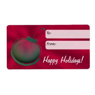Etiqueta del regalo de vacaciones, ornamento etiqueta de envío