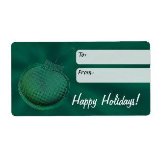 Etiqueta del regalo de vacaciones, ornamento etiquetas de envío