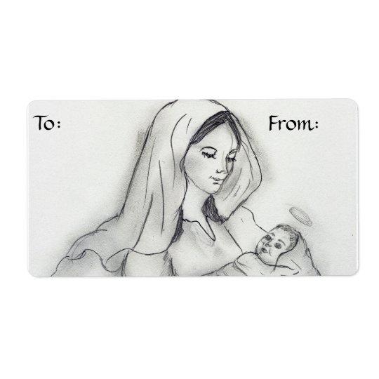 Etiqueta del regalo del amor de madre etiqueta de envío