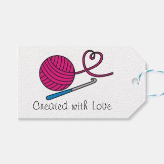 Etiqueta del regalo del amor del hilado etiquetas para regalos