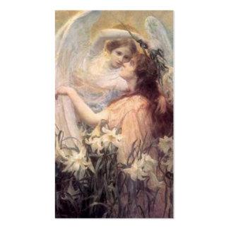 Etiqueta del regalo del ángel de guarda tarjetas de visita