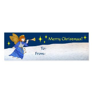 Etiqueta del regalo del ángel del navidad plantillas de tarjetas de visita