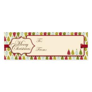 Etiqueta del regalo del bosque del navidad tarjetas de visita