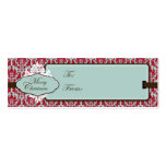 Etiqueta del regalo del brocado del navidad tarjetas de visita mini