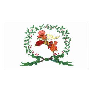 Etiqueta del regalo del caniche del albaricoque de tarjetas de visita