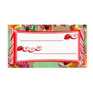 Etiqueta del regalo del caramelo etiquetas de envío