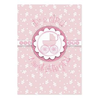 Etiqueta del regalo del chica del dulce uno tarjetas de visita grandes