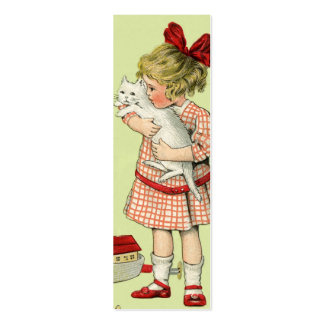 Etiqueta del regalo del chica del vintage o nota tarjetas de visita mini