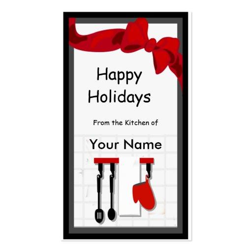 Etiqueta del regalo del cocinero de la cocina buen plantilla de tarjeta de visita