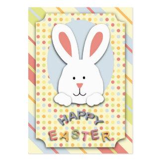 Etiqueta del regalo del conejito de pascua tarjetas de negocios