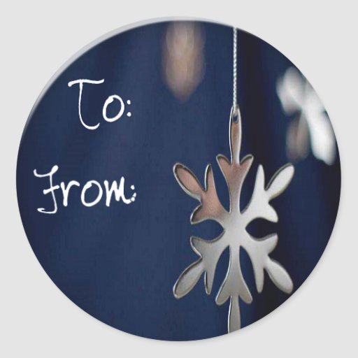 etiqueta del regalo del copo de nieve del metal