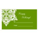 Etiqueta del regalo del copo de nieve del navidad tarjetas de negocios