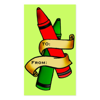 Etiqueta del regalo del creyón tarjeta de visita