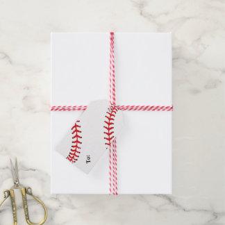 Etiqueta del regalo del diseño del béisbol etiquetas para regalos