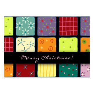 Etiqueta del regalo del diseño del mosaico del rem plantilla de tarjeta de negocio