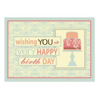 Etiqueta del regalo del dulce dieciséis tarjetas de visita grandes