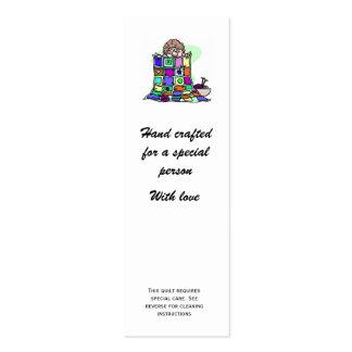 etiqueta del regalo del edredón con instrucciones tarjetas de visita mini