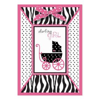Etiqueta del regalo del estampado de zebra y del c tarjetas de negocios