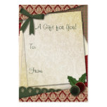 Etiqueta del regalo del estilo del pedazo plantilla de tarjeta de negocio