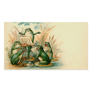 """Etiqueta del regalo del estribillo de la rana"" Tarjetas De Visita"