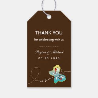 Etiqueta del regalo del favor de banquete de boda etiquetas para regalos