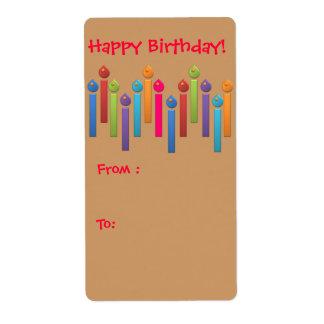 Etiqueta del regalo del feliz cumpleaños del fiest etiqueta de envío
