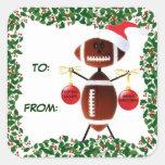 Etiqueta del regalo del fútbol del navidad del ace