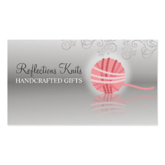 etiqueta del regalo del ganchillo de la reflexión tarjetas de visita
