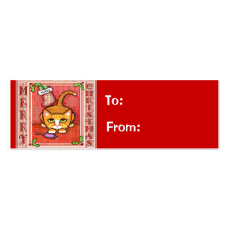 Etiqueta del regalo del gato del gatito del navida tarjetas de visita