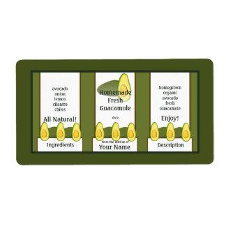 Etiqueta del regalo del Guacamole Etiqueta De Envío