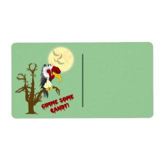 Etiqueta del regalo del halcón de Halloween Etiquetas De Envío