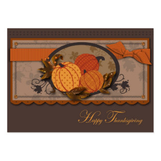 Etiqueta del regalo del jardín de la calabaza tarjeta personal