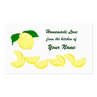 Etiqueta del regalo del limón tarjetas de visita