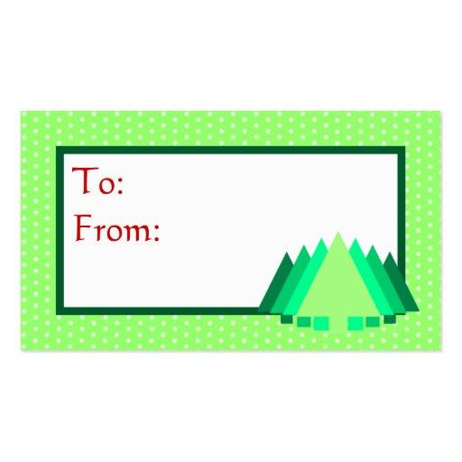 Etiqueta del regalo del lunar de la menta tarjetas de visita